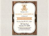 Baby Shower Invitations Teddy Bear theme Baby Shower Invitation Teddy Bear theme Wooden Rustic Baby
