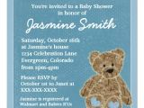 Baby Shower Invitations Teddy Bear theme Blue theme Teddy Bear Baby Shower Invitations