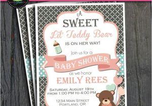 Baby Shower Invitations Teddy Bear theme Teddy Bear Baby Shower Invitation Baby Shower Ideas