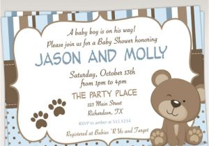 Baby Shower Invitations Teddy Bear theme Teddy Bear Baby Shower Invitations – Gangcraft