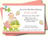 Baby Shower Invitations Turtle theme Coral Turtle Baby Shower Invitation Turtle Baby Shower