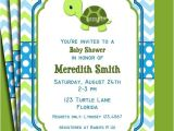 Baby Shower Invitations Turtle theme Turtle Invitation Printable Birthday or Baby by