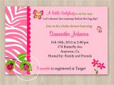 Baby Shower Invitations with butterflies Design butterfly Baby Shower Invitations Wording