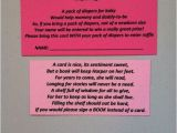 Baby Shower Invitations with Diaper Raffle and Book Request Baby Shower Invitation Ideas Cute Inserts for Diaper