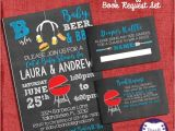 Baby Shower Invitations with Diaper Raffle and Book Request Bbq Baby Shower Invitation Set Blue Style Invite Diaper