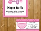 Baby Shower Invitations with Diaper Raffle Traditional Diaper Raffle Baby Shower Invitation Insert