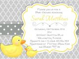Baby Shower Invitations with Ducks Baby Shower Invitations Rubber Ducky Baby Shower
