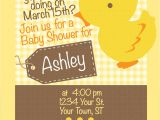 Baby Shower Invitations with Ducks Duck Baby Shower Invitation