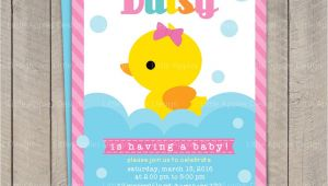 Baby Shower Invitations with Ducks Duck Baby Shower Invitation Rubber Duck Baby Shower