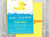Baby Shower Invitations with Ducks Rubber Duck Baby Shower Invitation