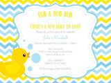 Baby Shower Invitations with Ducks Rubber Duck Baby Shower Invitations