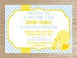 Baby Shower Invitations with Ducks Yellow Duck Baby Shower Invitation Baby by Cakesandkidsdesigns