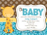 Baby Shower Invitations with Giraffes Baby Giraffe Baby Shower Invitation