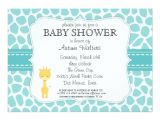 Baby Shower Invitations with Giraffes Giraffe Baby Shower Invitations