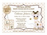 "Baby Shower Invitations with Giraffes Snickerdoodle Giraffe Baby Shower Invitations 5"" X 7"