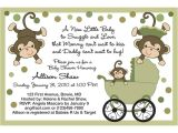 Baby Shower Invitations with Monkeys Free Printable Monkey Baby Shower Invitations