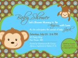 Baby Shower Invitations with Monkeys Monkey Baby Shower Invitation Boy Invitation Monkey Shower