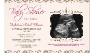 Baby Shower Invitations with sonogram Picture Precious sonogram Baby Shower Invitation Pink