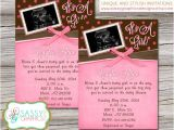 Baby Shower Invitations with Ultrasound Girls Baby Shower Invitation with Ultrasound Picture with