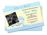 Baby Shower Invitations with Ultrasound Ultrasound Baby Shower Invitations for Boy Digital File