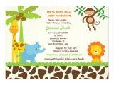 Baby Shower Invitations Zoo Animal theme Safari Jungle Zoo Baby Shower Invitations