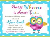 Baby Shower Invite Example Baby Shower Invitation Templates Word
