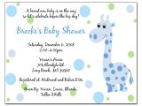 Baby Shower Invite Example Invitation Baby Boy Quotes Quotesgram