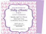 Baby Shower Invite Example Sample Baby Shower Invitations