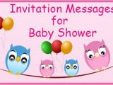 Baby Shower Invite Message Invitation Messages for Baby Shower Invitation Wordings Sample