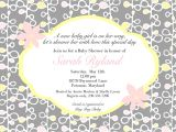 Baby Shower Invite Message Wording for Baby Shower Invitations asking for Gift Cards