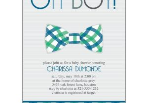 Baby Shower Invite Pictures Bowtie Baby Shower Invitations