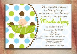 Baby Shower Invite Pictures Pea In A Pod Baby Shower Invitation Baby In A Pod by