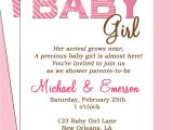 Baby Shower Invite Poem Girl Baby Shower Invitation Wording