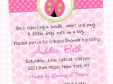 Baby Shower Invite Poem Girl Wording for Baby Girl Shower Invitations