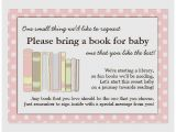 Baby Shower Invite Wording Bring A Book Baby Shower Invitation Beautiful Baby Shower Invite