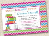 Baby Shower Invite Wording Bring A Book Bring A Book Baby Shower Invitation