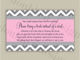 Baby Shower Invite Wording Bring A Book Color Options 3×5 Bring A Book Invitation Insert with