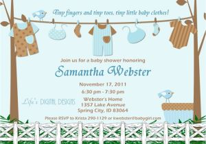 Baby Shower Invite Wording for Boy Baby Shower Invitations for Boy Baby Clothes Blue and Brown