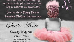 Baby Shower Invite Wording for Girl Baby Shower Invitation Wording for A Girl Cimvitation