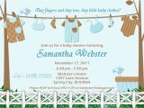 Baby Shower Invites for A Boy Baby Shower Invitations for Boy Baby Clothes Blue and Brown