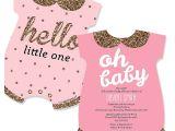 Baby Shower Invites for A Girl Custom Baby Shower Invitations for Girl