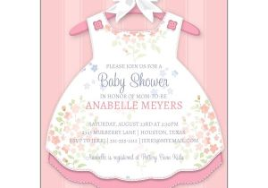 Baby Shower Invites Girl Baby Girl Dress Invitations