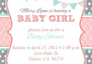 Baby Shower Invites Girl Baby Shower Invites for Girl