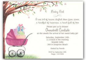 Baby Shower Invites Girl Foliage Girl Carriage Baby Shower Invitations Clearance