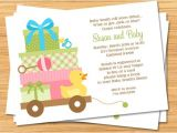 Baby Shower Invites Unisex Uni Baby Shower Invitation Print Yourself