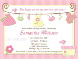 Baby Shower Its A Girl Invitations Free Birthday Invitations Baby Shower Invitations
