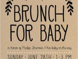 Baby Shower Luncheon Invitation Wording Baby Shower Brunch Invitation Simple Boho Gender