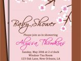 Baby Shower Luncheon Invitation Wording Cherry Blossom Invitation Printable or Printed with Free