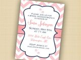 Baby Shower Luncheon Invitation Wording Pink Chevron Invitation Bridal Image