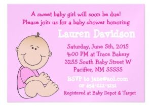 Baby Shower Magnet Invitations Baby Girl Pink Baby Shower Magnetic Invitation